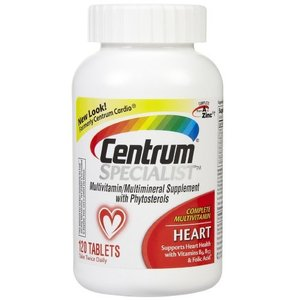 [Centrum] Specialist Complete Multivitamin Heart 120 Tablets 심장 건강을 위한 센트룸 종합비타민,120정